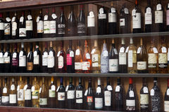 Showcase of alcohol store in Logrono. Spain Royalty Free Stock Image