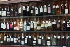 Showcase of alcohol store Royalty Free Stock Image