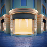 Showcase in classical style. 3D illustration showcase in classical style . Evening view Stock Photo