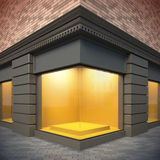 Showcase in classical style. 3D illustration showcase in classical style. Day view Stock Image