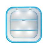 Showcase copyspace shop shelf with illumination Stock Images