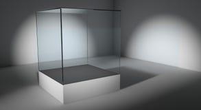 Showcase de vidro vazio Fotografia de Stock