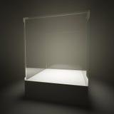 Showcase de vidro vazio iluminado Foto de Stock Royalty Free