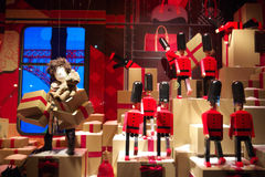 Showcase Display Department Store Paris Stock Images