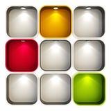Showcase do copyspace do indicador da loja isolado Fotos de Stock
