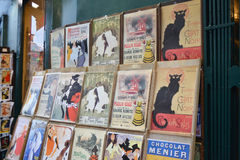 Showcase of gift shop, Paris. Royalty Free Stock Image