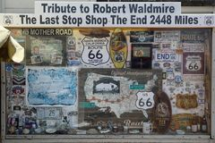Showcase in Honor of Robert Waldmire on the Terminus of Route 66 at Santa Monica Pier. California Stock Images