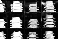 Showcase with male shirts Royalty Free Stock Image