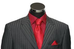 Showcase Mannequin Dressed In Suit. Headless mannequin dressed in striped suit royalty free stock photos