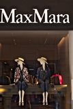 Showcase of the Max Mara store in Via Condotti royalty free stock photography