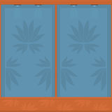 Showcase pattern. Showcase with a pattern for the goods.  format Stock Images