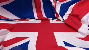 Showcase pedestal covered with Great Britain flag Stock Photos