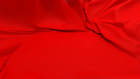 Showcase pedestal covered with red cloth Royalty Free Stock Photo