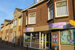 Showcase perfume shop Dio in Meerkerk, the Netherlands Stock Photos