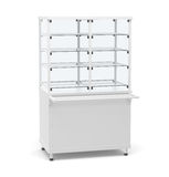 Showcase refrigeration. Front view. On white background. 3D illustration Royalty Free Stock Images