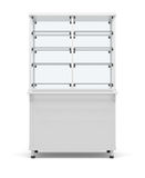 Showcase refrigeration. Front view. On white background. 3D illustration Royalty Free Stock Photo