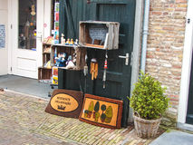 Showcase souvenir shop in the Dutch town of Heusden Royalty Free Stock Photos