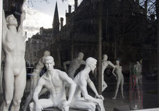 Showcase a sports shop. Mannequins. Royalty Free Stock Photography