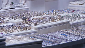 Showcase Store Jeweler Ornaments. stock footage