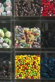 Showcase of a store with sweets Royalty Free Stock Image
