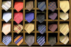 Showcase with ties Royalty Free Stock Image