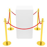 Showcase with tiled stand barriers for exhibit Royalty Free Stock Images