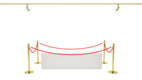Showcase with tiled stand barriers for exhibit Stock Images
