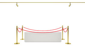 Showcase with tiled stand barriers for exhibit Stock Photos