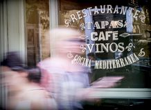 Showcase of traditional bar written in Spanish, conceptual image Royalty Free Stock Photography