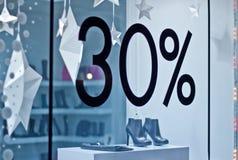 Showcase trendy shoe store Stock Photos