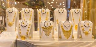 Showcase van juwelen in Muscateldruif, Oman Stock Foto's