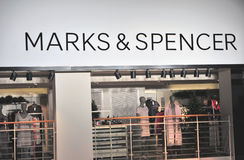 Showcase van Tekens & de opslag van het Spencervlaggeschip in Helsinki Stock Afbeeldingen