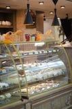 Showcases cafe royalty free stock photo