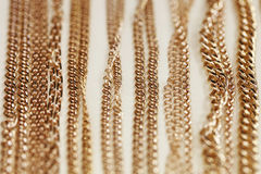 Showcases, gold, chain, close-up Royalty Free Stock Photo