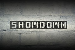 Showdown WORD GR Royalty Free Stock Photo