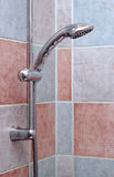 Shower. Photo of chrome metal shower Stock Photography