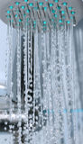 Shower. Water falling down from shower Stock Images