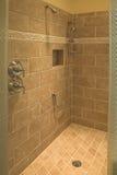 Shower. New stone tile shower stock image