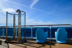 Shower And Chair On Cruise Ship Stock Image