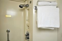 Shower area and towel Stock Photo