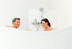 Shower bath couple Royalty Free Stock Photo