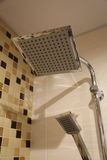 Shower bath. Idea of the shower design in the tiled bathroom Royalty Free Stock Photos