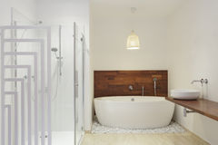 Shower and a bath Royalty Free Stock Photography