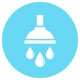 Shower bath vector icon Royalty Free Stock Photos
