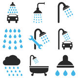 Shower And Bath Vector Icon Set Royalty Free Stock Photos