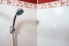 Shower in bathroom royalty free stock photos