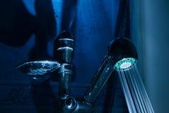 Shower in a bathroom Stock Photos