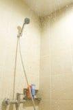 Shower in bathroom Stock Photos