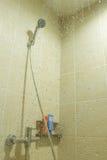 Shower in bathroom royalty free stock photos