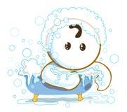 Shower in bathtub Royalty Free Stock Photo